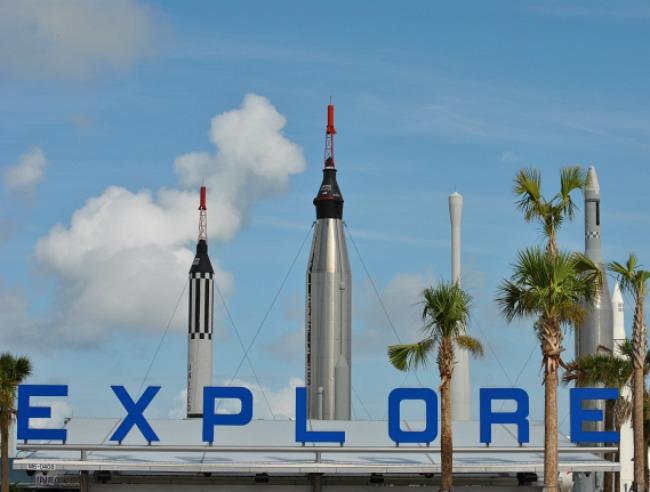 Kennedy Space Centre, Rocket Garden, Orlando, Florida,