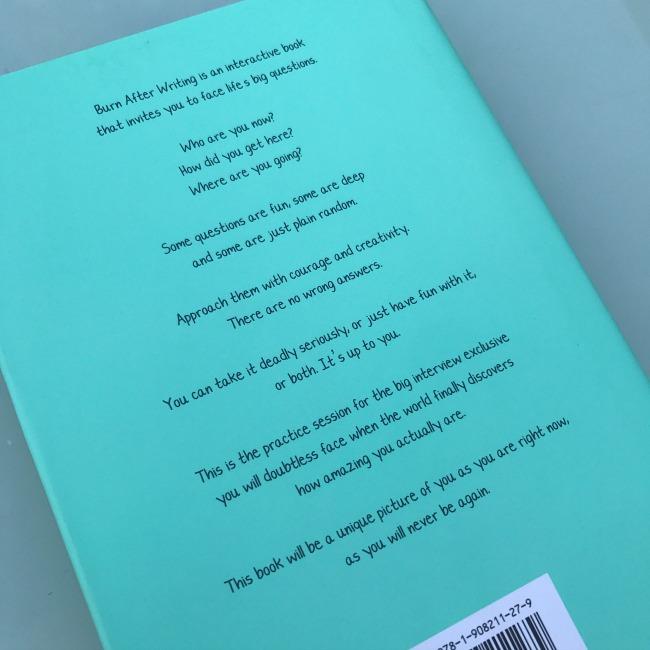 Back Cover, Burn After Reading, Diary, Book, Journal, Teens, Teenagers, Gift, Present, Stocking Filler