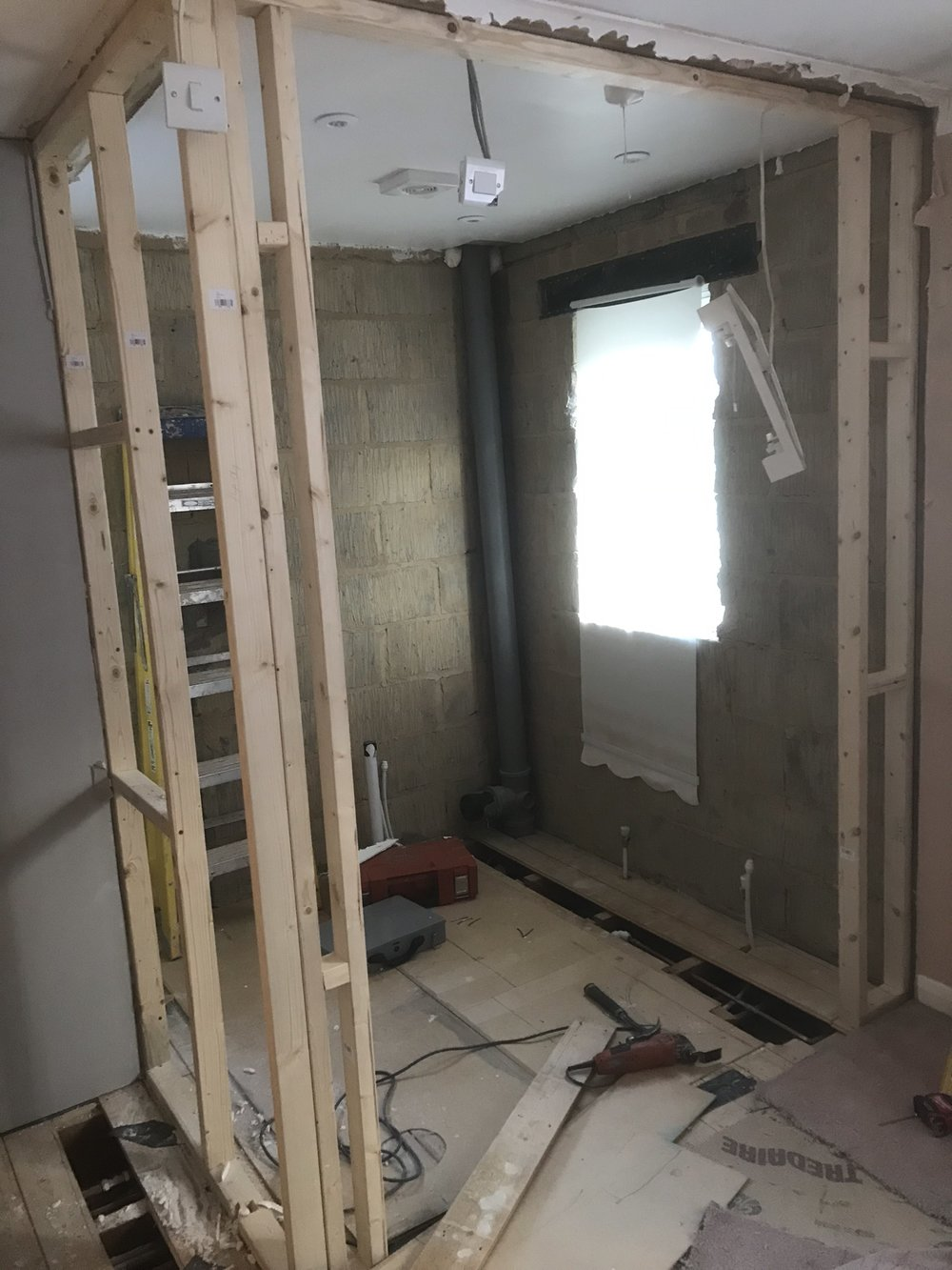 New walls going in