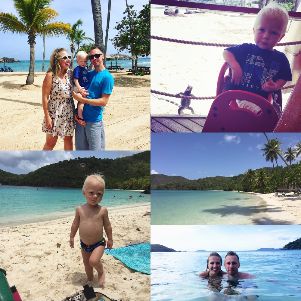Virgin Islands vacation with my Fiance and our son