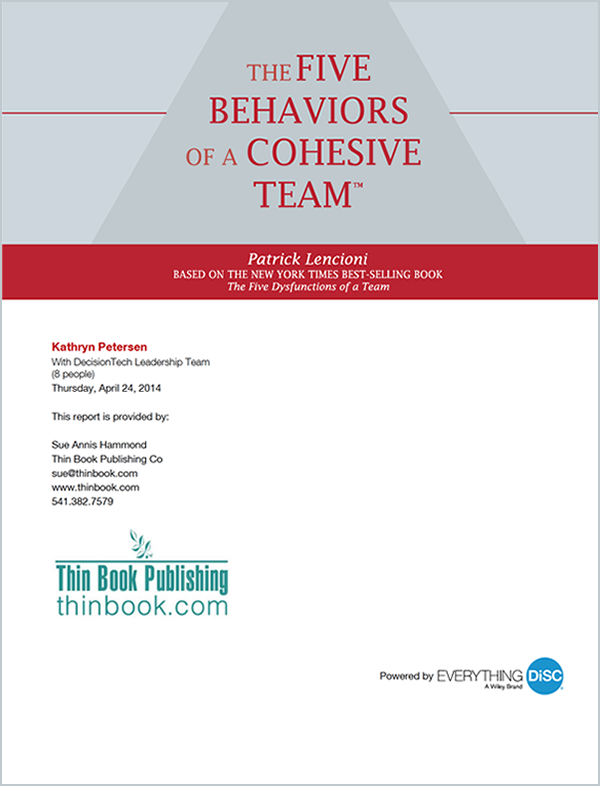 Five Behaviors Profile