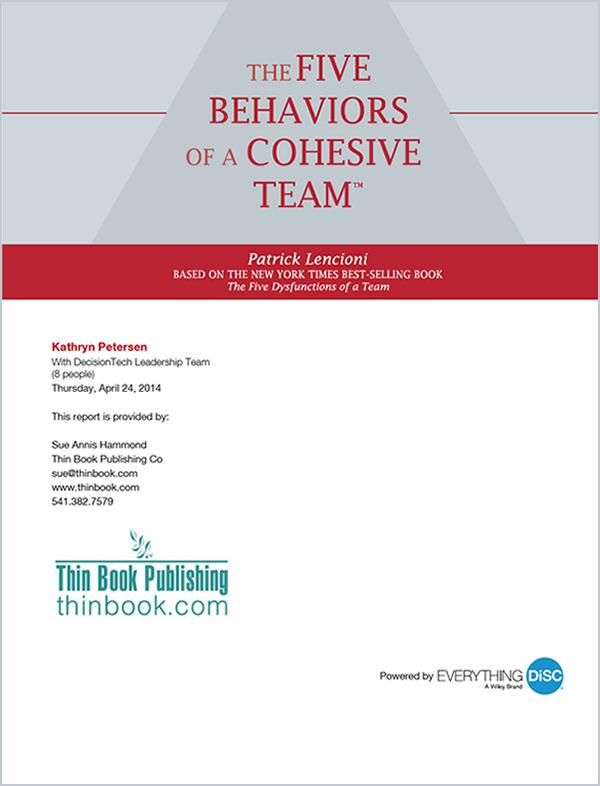 Five Behaviors Profile