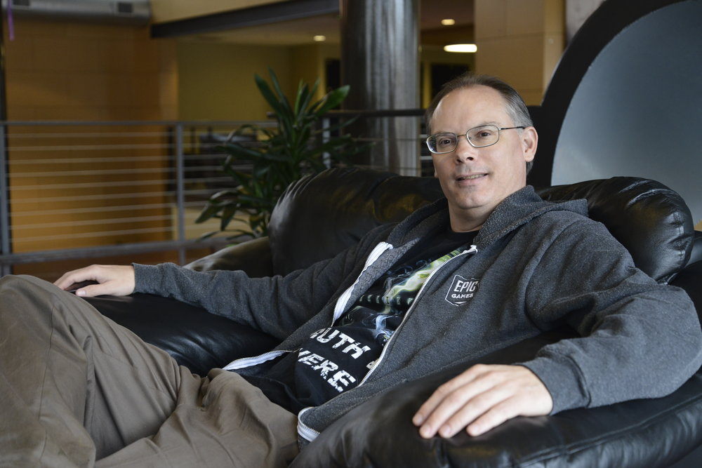 Epic Games CEO Tim Sweeney. Photo  ©  Epic Games / Dana Cowley