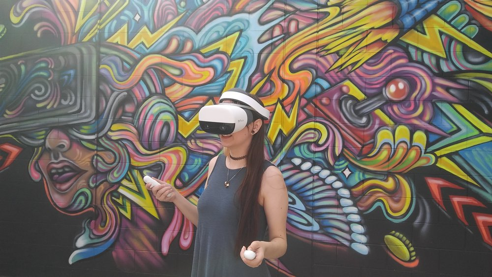 Virtual Reality is a digital world in which you can engage and interact in, simulating experiences through your senses and perception. Augmented reality blends the digital and real world. We have worked with a variety of companies in creating VR and AR content along with developing customized VR solutions.