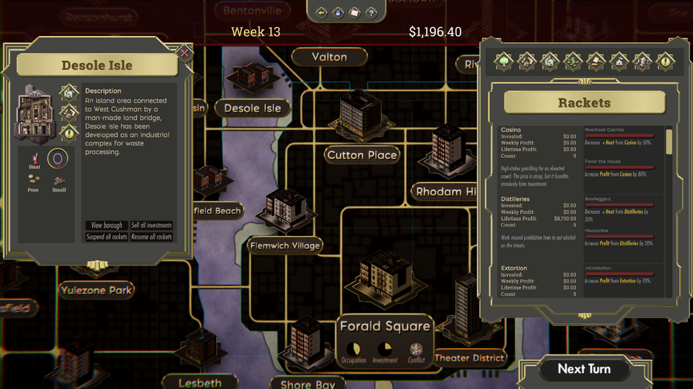 The Commission Organized Crime In Game Screenshot