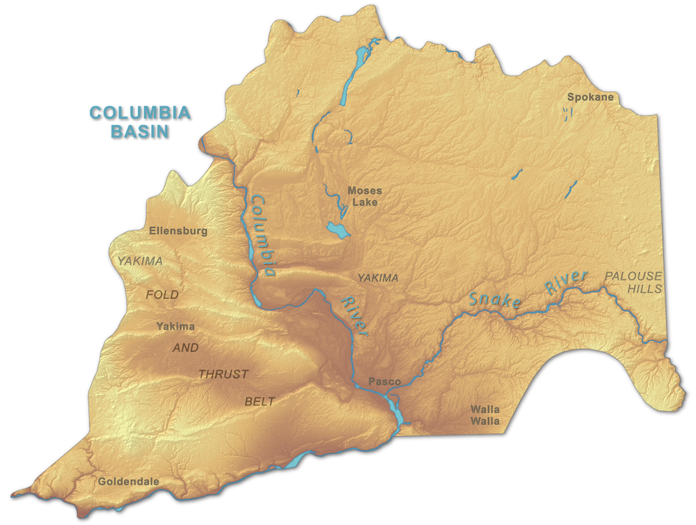 Map COURTESY of the Washington Division of Geology and Earth Resources