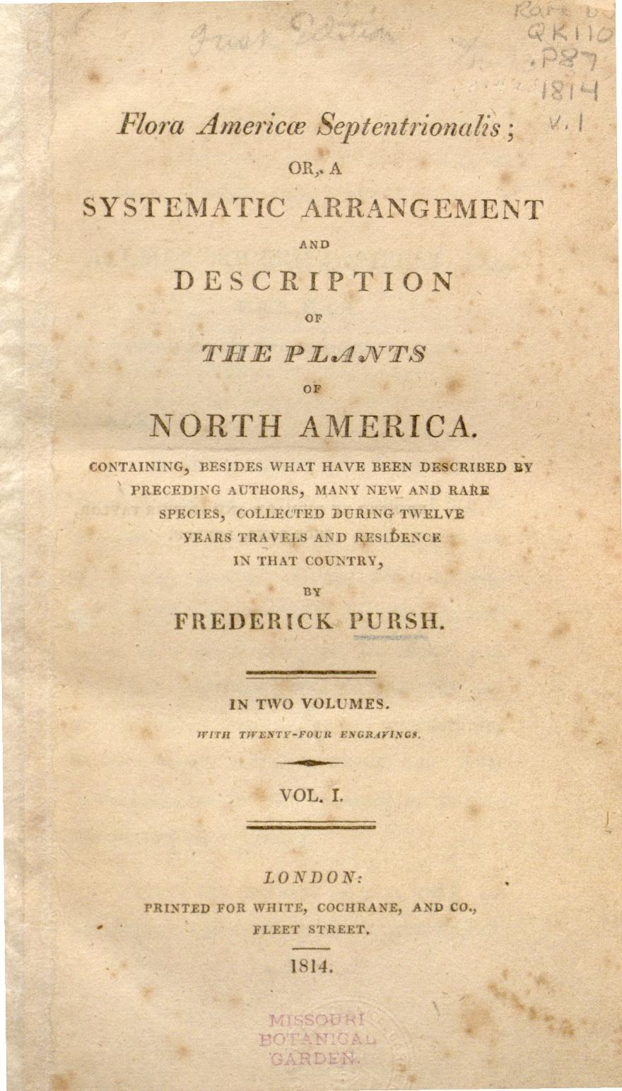 Pursh,  Flora Americae Septentrionalis