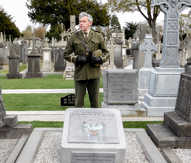 Re-enactment of Patrick Pearse's oration, Glasnevin Cemetery