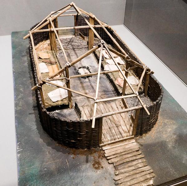Une hutte Viking au Musée Irlandais d'Archéologie