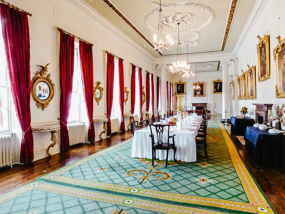 Dining Room in Dublin Castle, one of the best castles to visit in Ireland