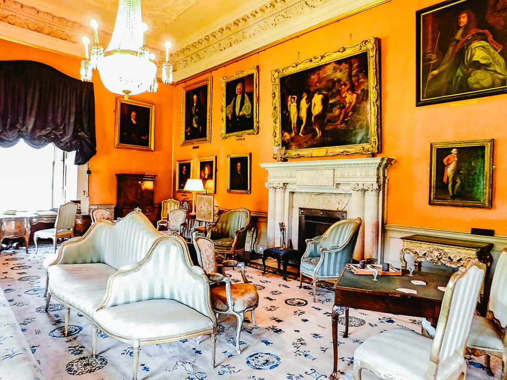 Drawing Room in Malahide Castle, one of the most gorgeous castles to visit around Dublin, Ireland