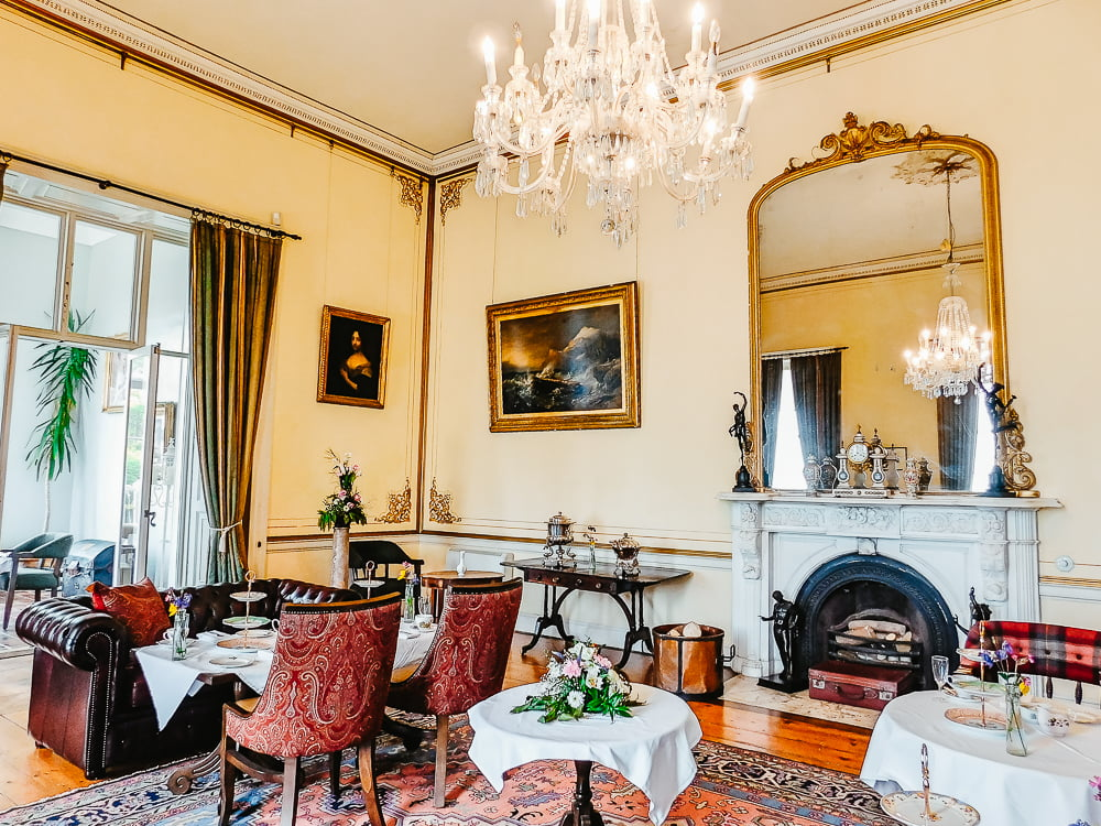 Drawing Room in Ardgillan Castle, a castle you can visit near Dublin, Ireland