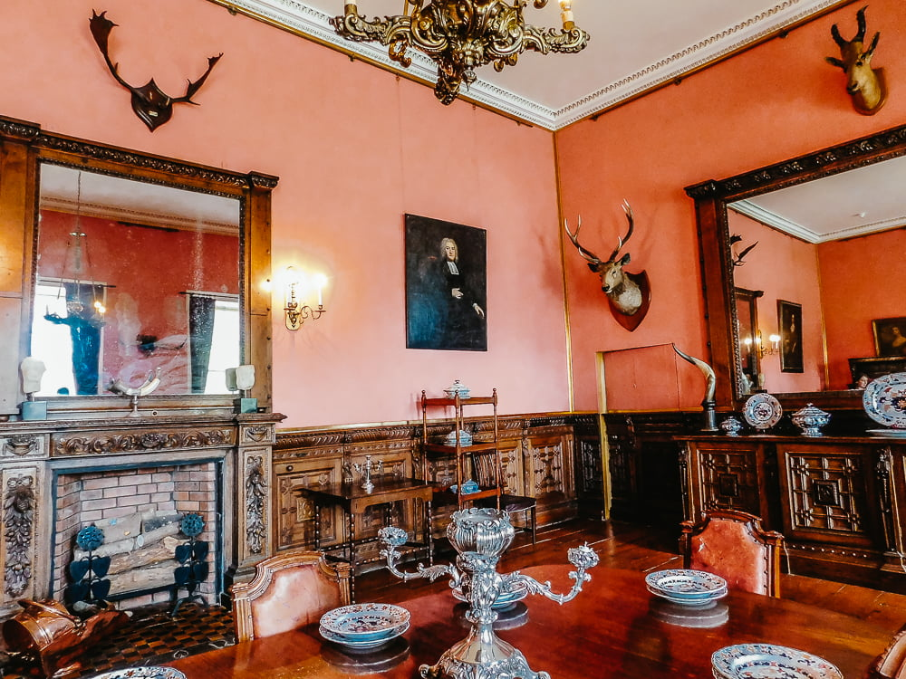 Dining Room in Ardgillan Castle, a historic place to visit around Dublin, Ireland