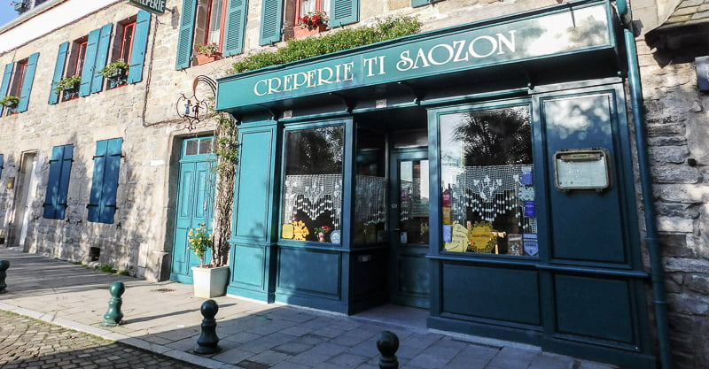 Traditional Breton Restaurant in Roscoff, Brittany, France