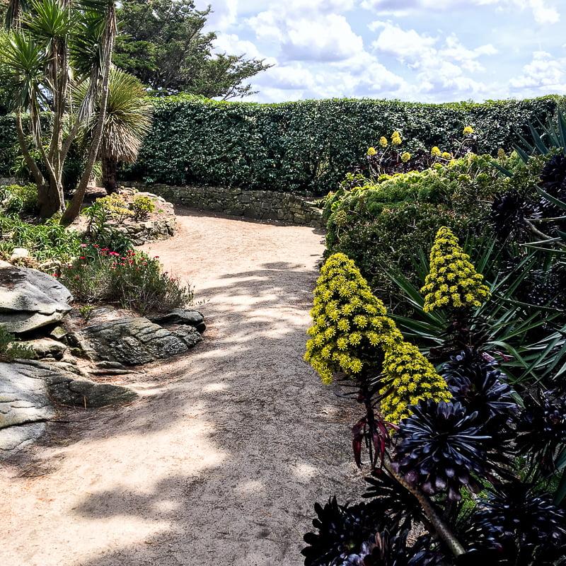Garden Georges Delaselle, Batz Island, Brittany, France