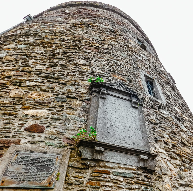 Plaque above the entrance of Reginald's Tower, Waterford