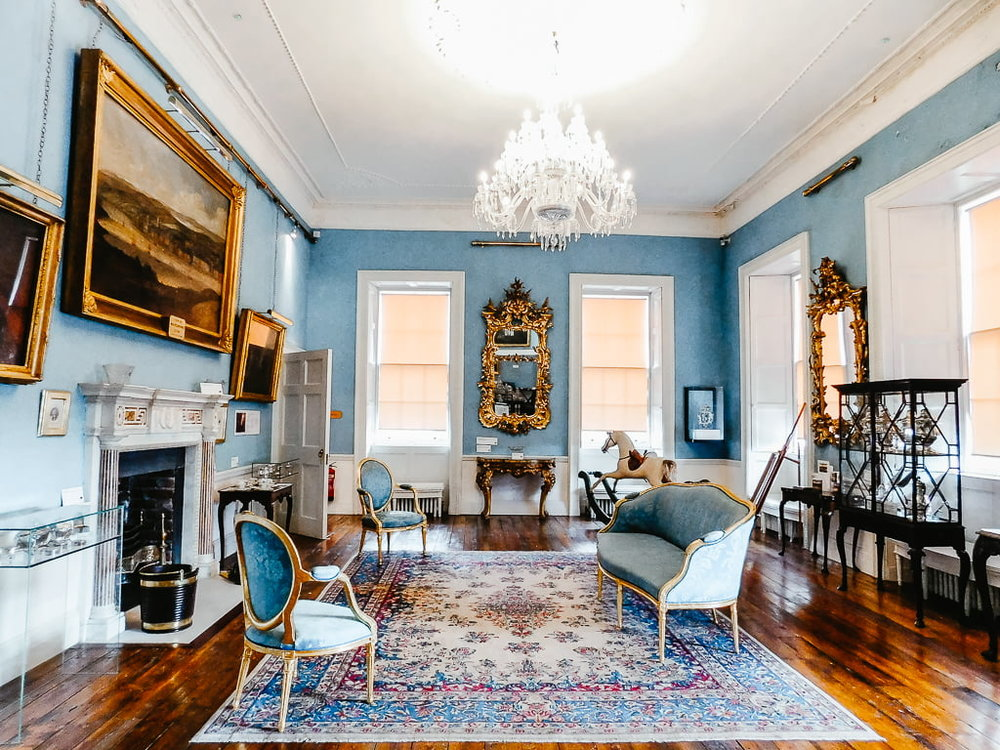 The Withdrawing Room in the Bishop's Palace, one of the best things to see in Waterford, Ireland