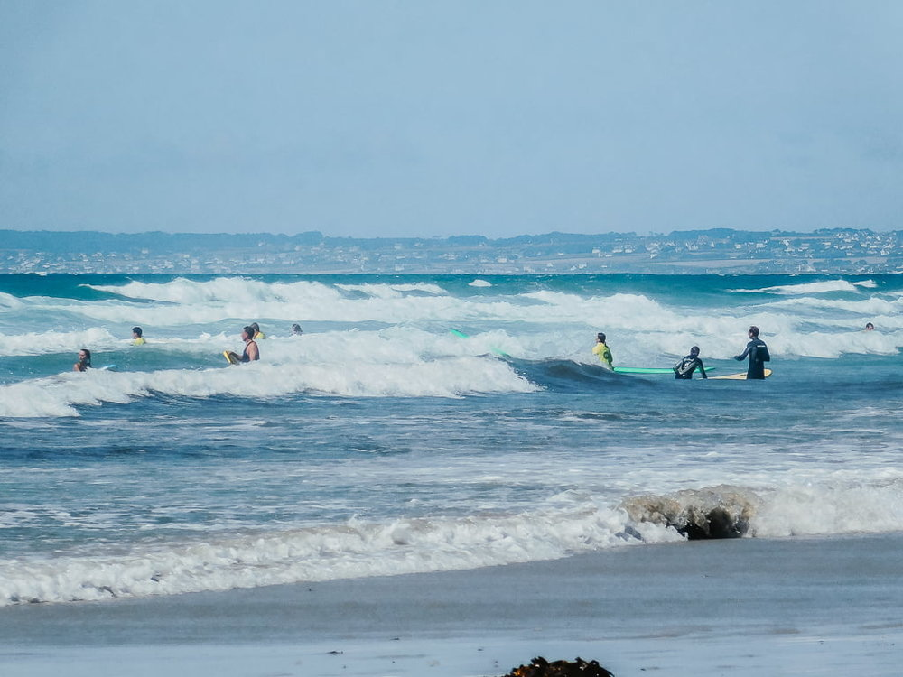 Surf Lesson for beginners in La Torche, top surf spot for beginners in Brittany, France