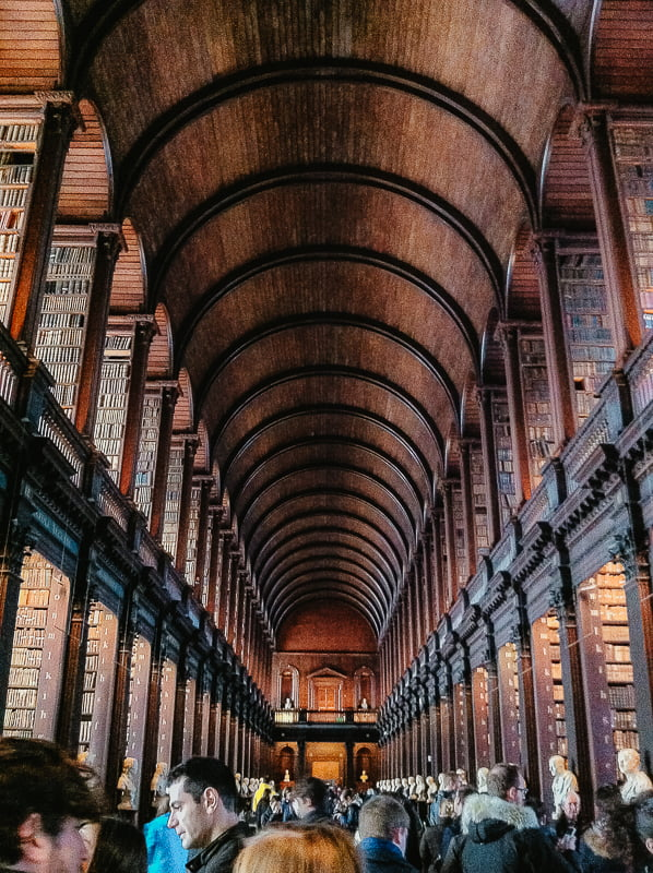 The Long Room in Trinity College Library, one of the most beautiful libraries in the world