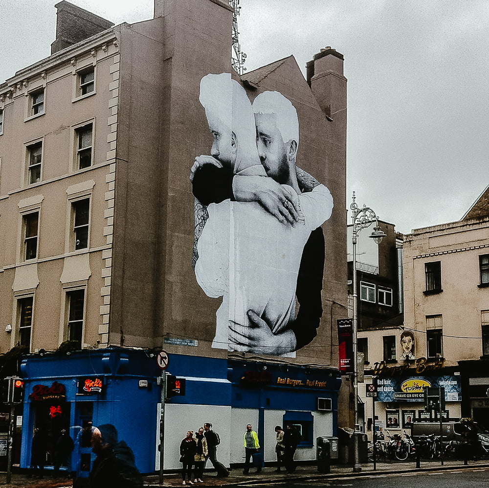 Mural painted in support of the same-sex mariage referendum in Ireland