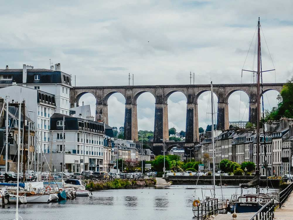 Viaduct of Morlaix, a unique thing to see in the Bay of Morlaix, France