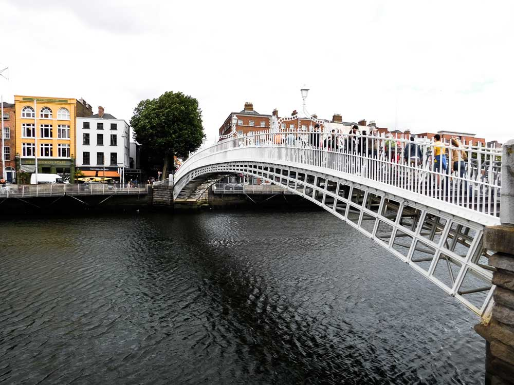 Ha'Penny Bridge over the Liffey River, Dublin