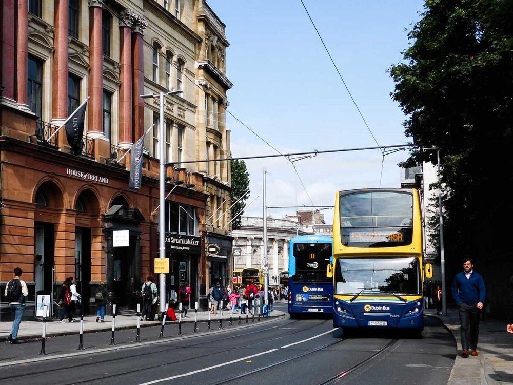 Getting a Bus in Dublin, Ireland