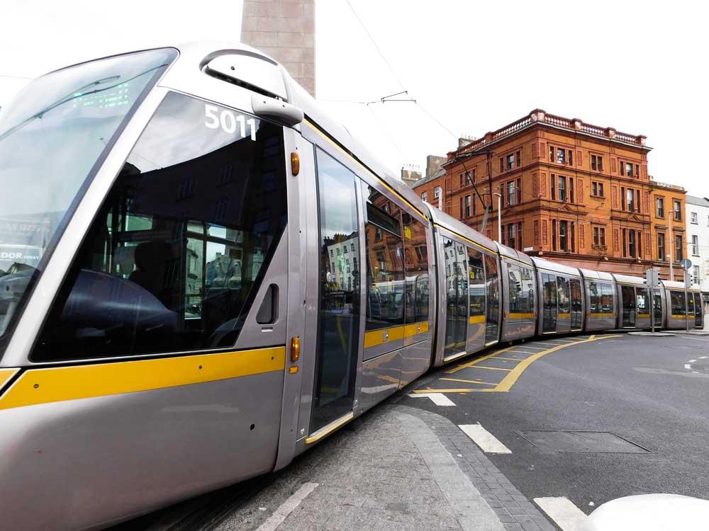 Getting the tram in Dublin, Ireland