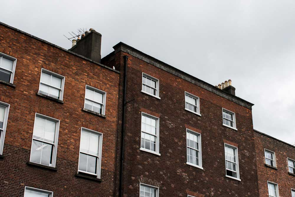 Buildings in Merrion Square, Dublin, Ireland