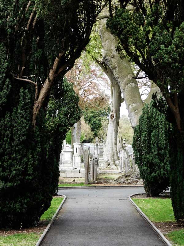 Le cimetière de Glasnevin à Dublin