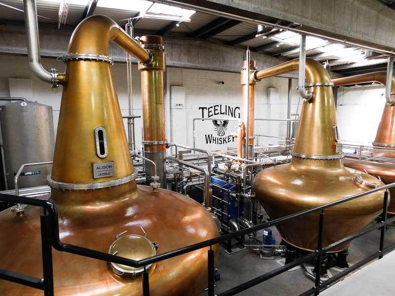 La distillerie Teeling à Dublin, Irlande