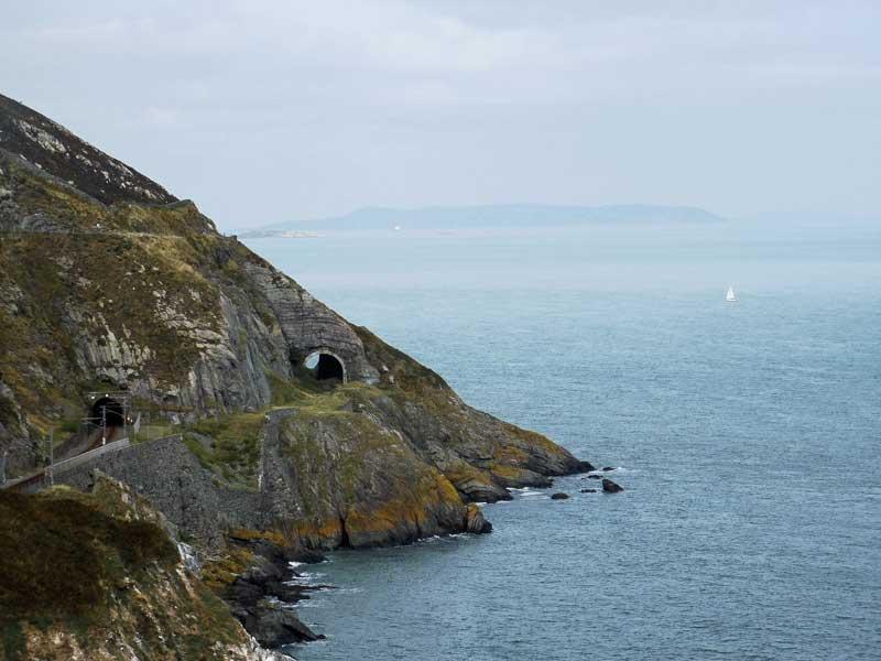 Vue sur la Mer d'Irlande, entre Bray et Greystones