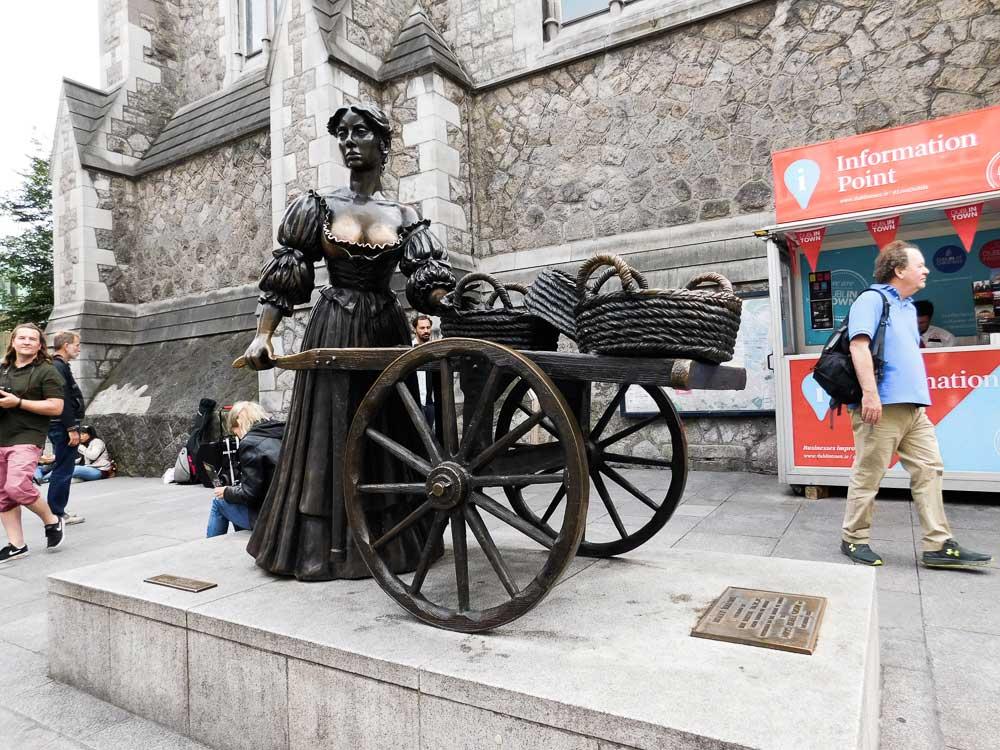 La statue de Molly Malone à Dublin en Irlande