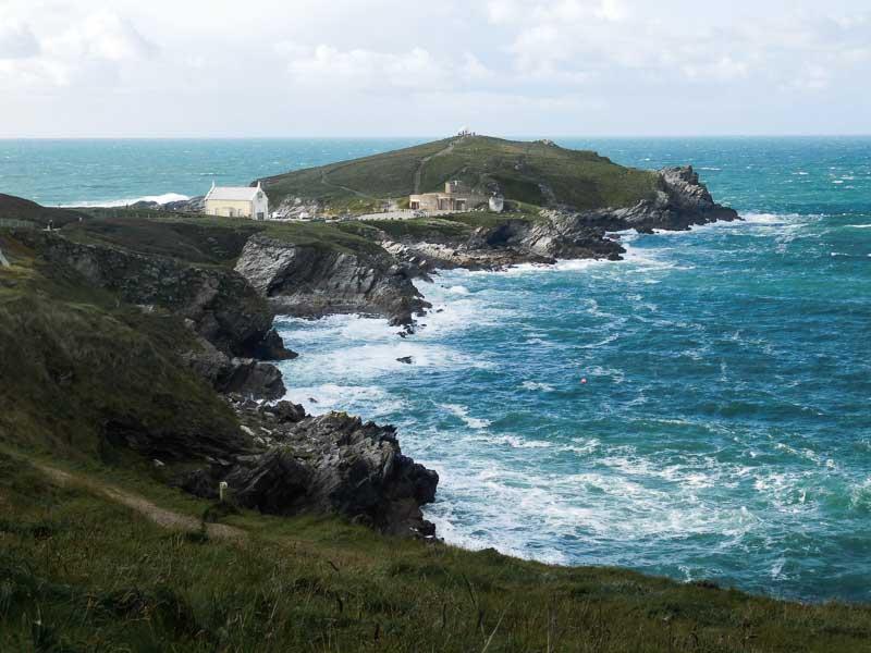 Towan Headland in Newquay, Cornwall