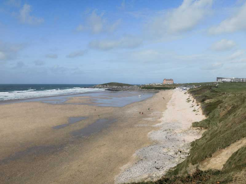 Fistral Beach, a surfers' paradise in Newquay, Cornwall, UK