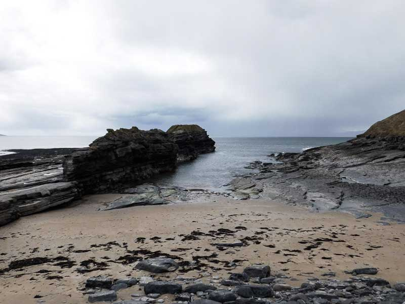 Sea stacks on Bundoran's main beach, Ireland