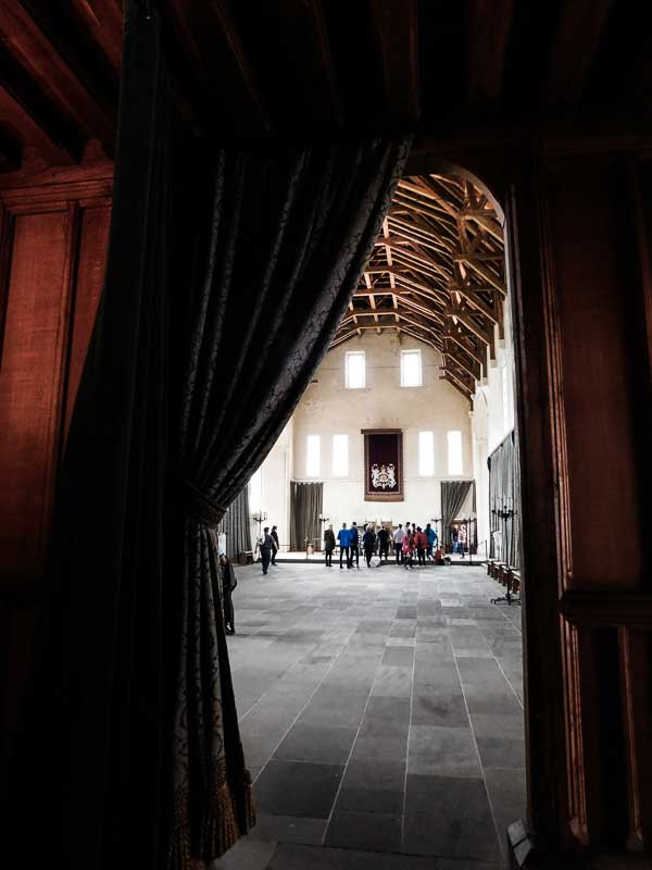 The Great Hall in Stirling Castle didn't exist at the time of the Battle of Stirling Bridge