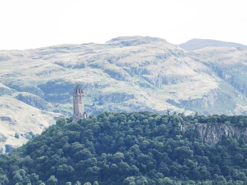 National Wallace Monument on the Abbey Craig, where the Scots army was located before the start of the Battle of Stirling Bridge.