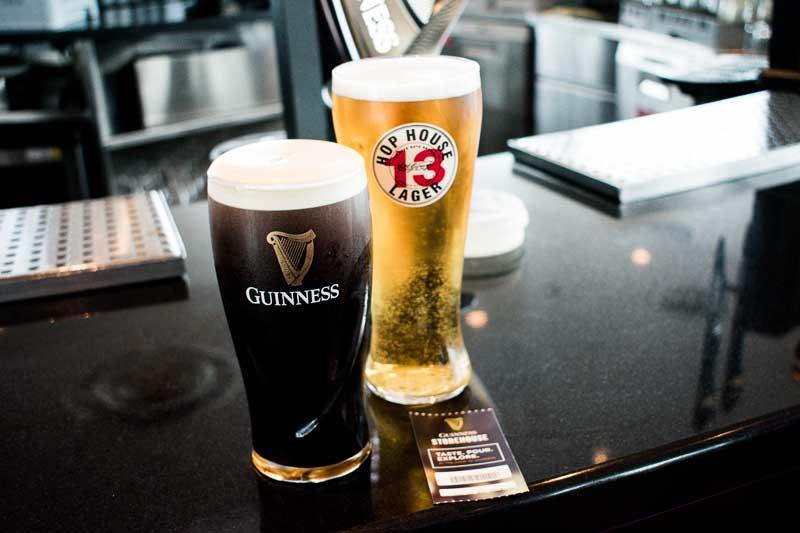 Enjoying a beer, Gravity Bar, Guinness Storehouse, Dublin, Ireland