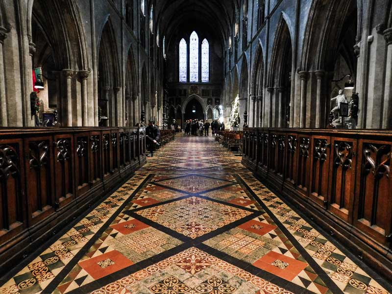 Inside St Patrick' Cathedral, Dublin, Ireland
