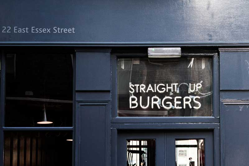 Straight Up Burgers in Bunsen, Temple Bar, Dublin