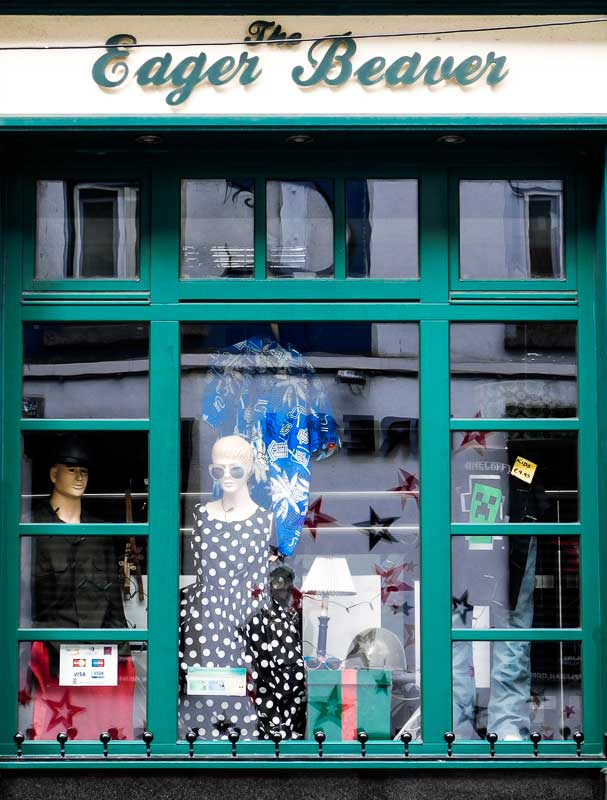 The Eager Beaver, Vintage Clothing Store in Temple Bar, Dublin