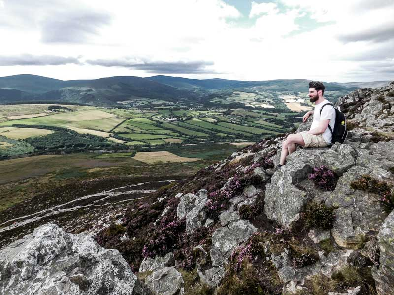 Climbing the Sugar Loaf, Ireland