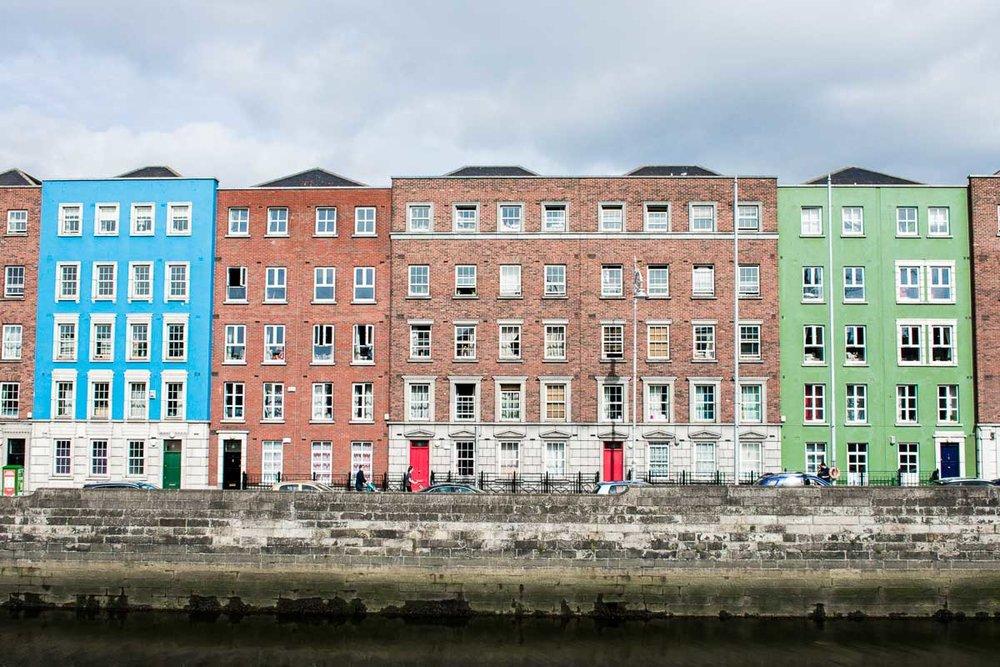 Houses on the Quays, Dublin, Ireland