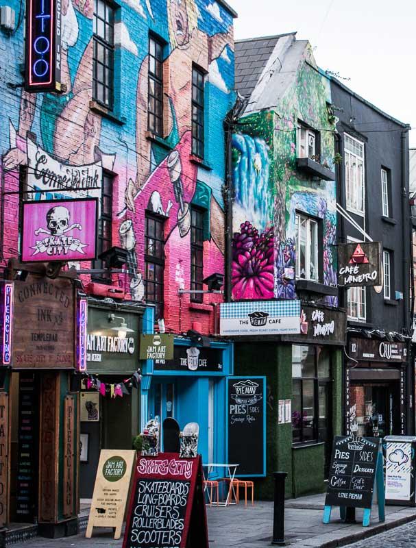 Colourful Shops in Temple Bar, Dublin