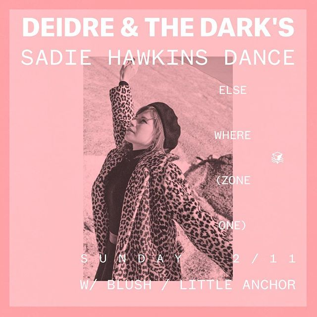 Our first 2018 show is this Sunday, 2/11 at @elsewherespace with @deidremusic and @blush.tunes! Come hang with us! And, in the spirit of Sadie Hawkins, ladies -- 'don't be scared to move' and ask that person you've been thinking about to come with :)