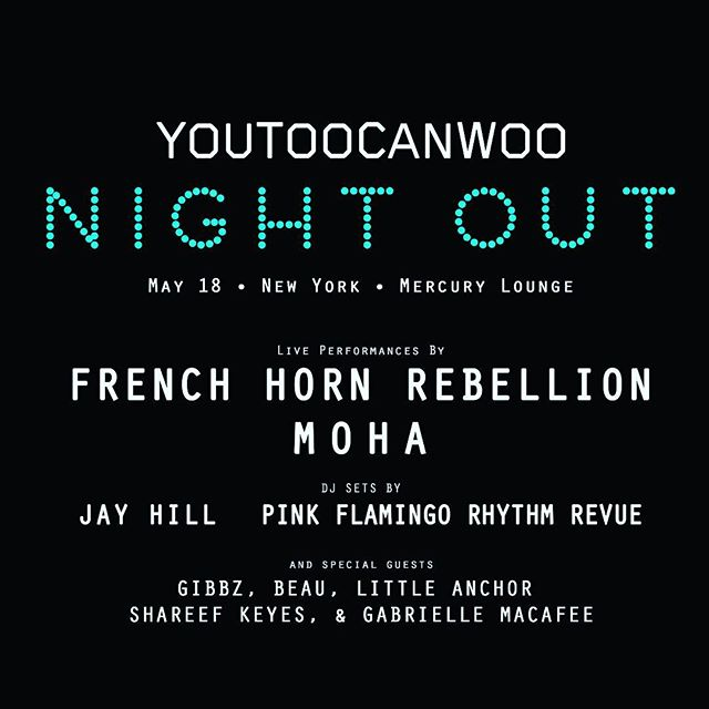 Friday night is Night Out!!! Come hang with the extended @youtoocanwoo family!