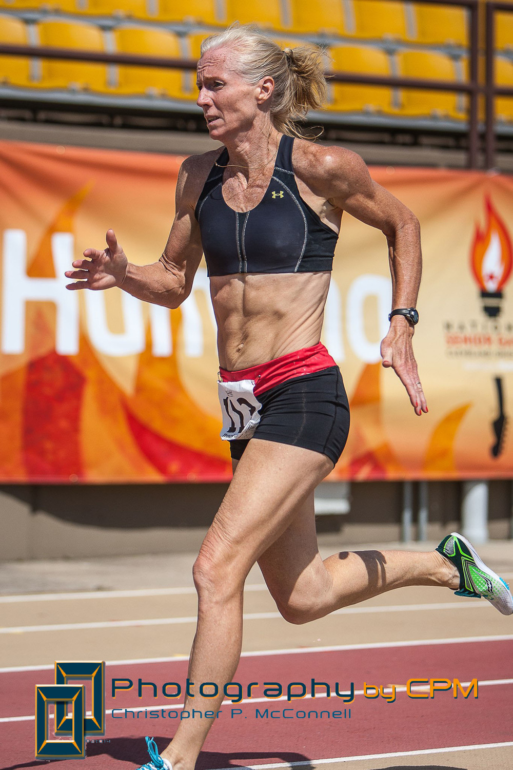 Fox competing at the 2014 National Senior Games Presented by Humana
