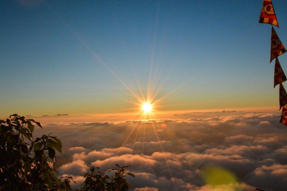 Sunrise view at Adam's Peak