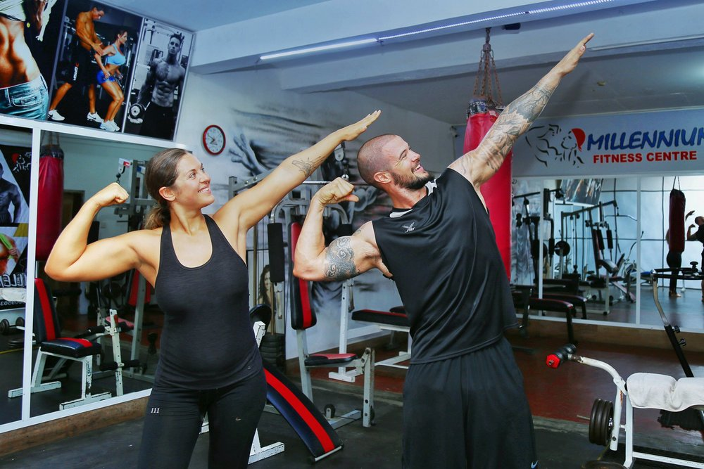 One gym owner surprised us by pulling out his professional camera for a photo shoot with us!